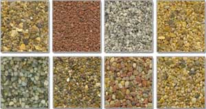 Resin Bound Aggregate Samples used in our Driveways and Surfaces