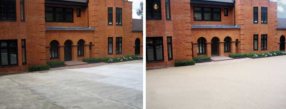 Modest or Extravagent Resin Bound Driveway